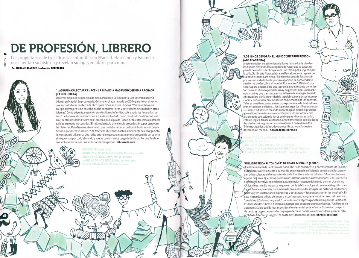 illustration naif magazine editorial kids