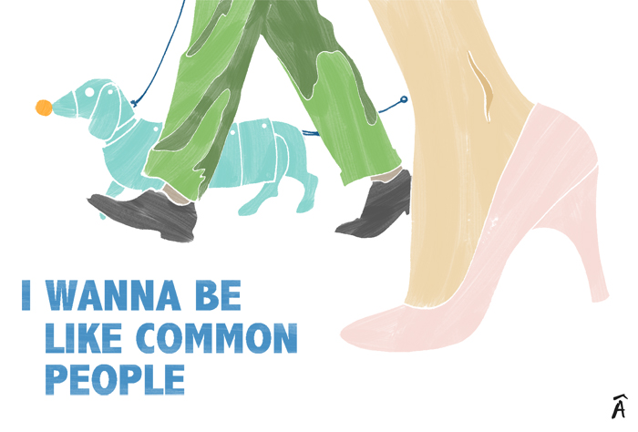 ilustration fashion editorial magazine i wanna be like common people