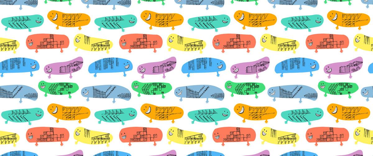 illustration kids surface pattern design