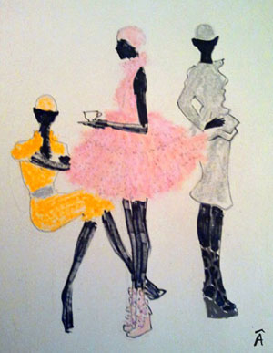 illustration fashion alexander mcqueen editorial magazine