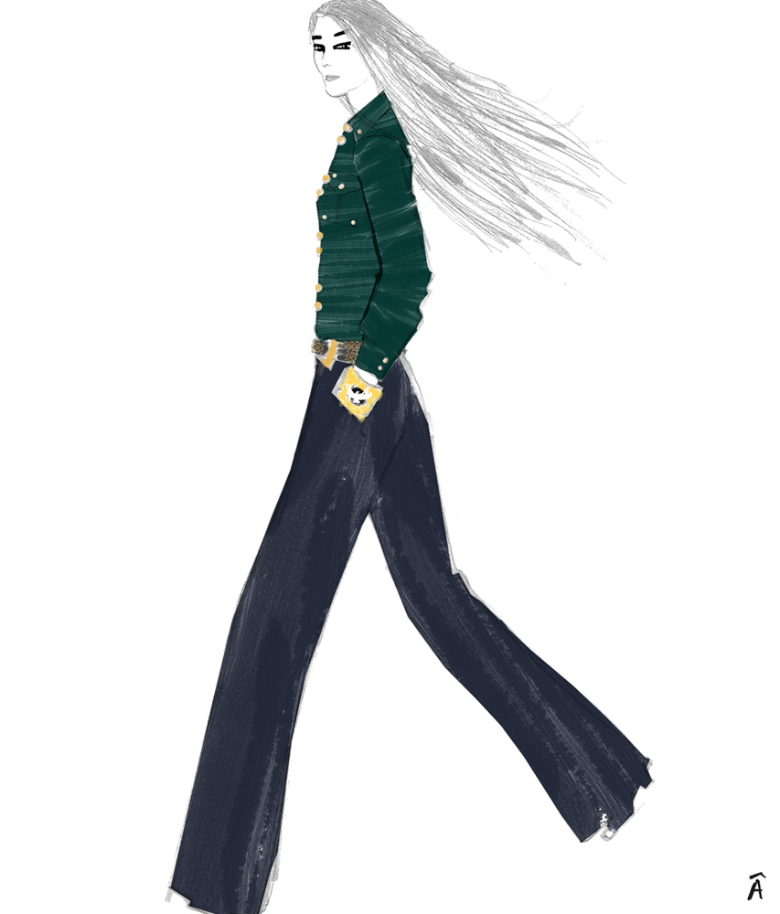 balmain pre-fall 2012 illustration fashion