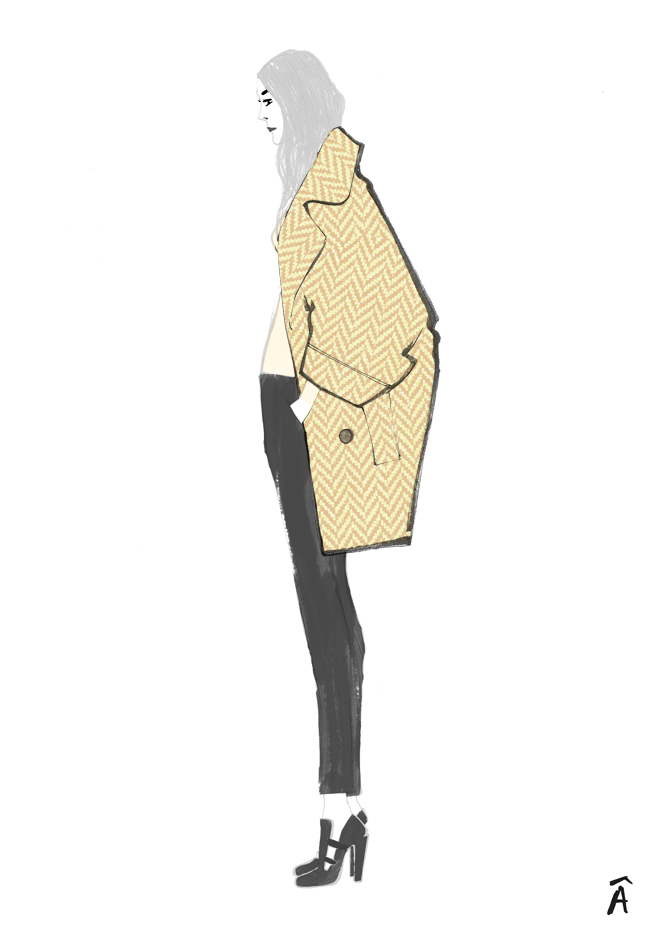 fashion illustration chloe pre-fall 2012
