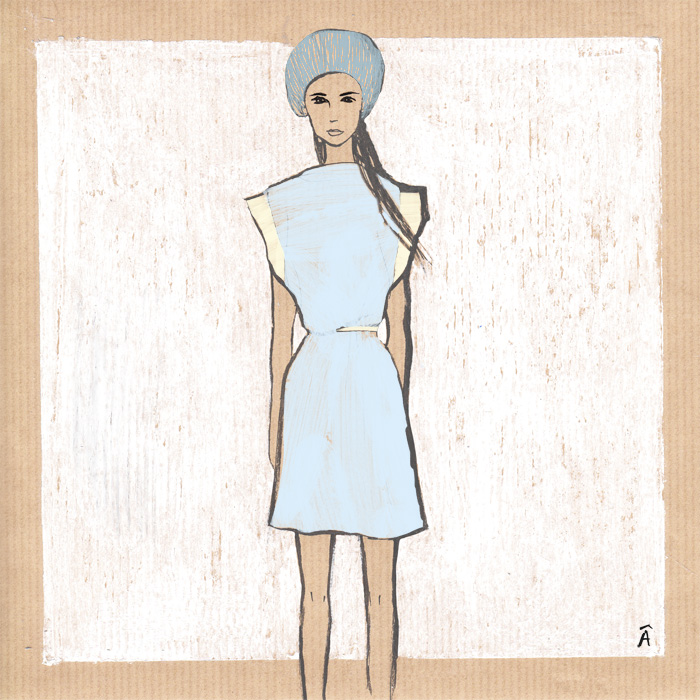 fashion illustration balenciaga resort 2013